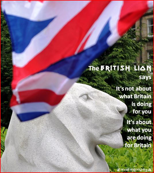 British Lion says this is about what each of us is doing for the greater good of Britain